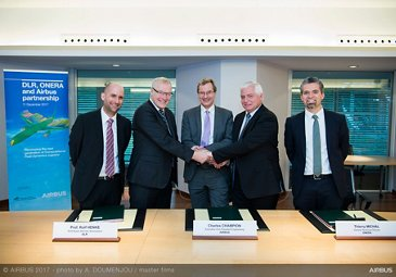 DLR and ONERA partnership signing ceremony with Airbus