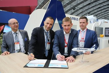 Airbus and Finnair sign FHS contract at MRO Europe 2021