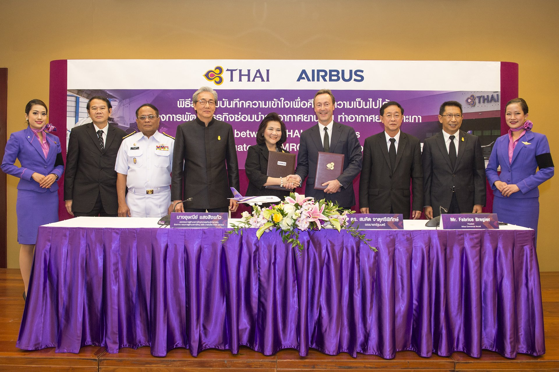 Airbus signs MOU with THAI to develop new MRO business 2
