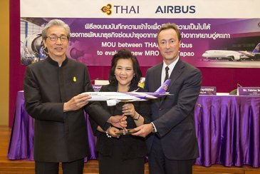 Airbus signs MOU with THAI to develop new MRO business 3