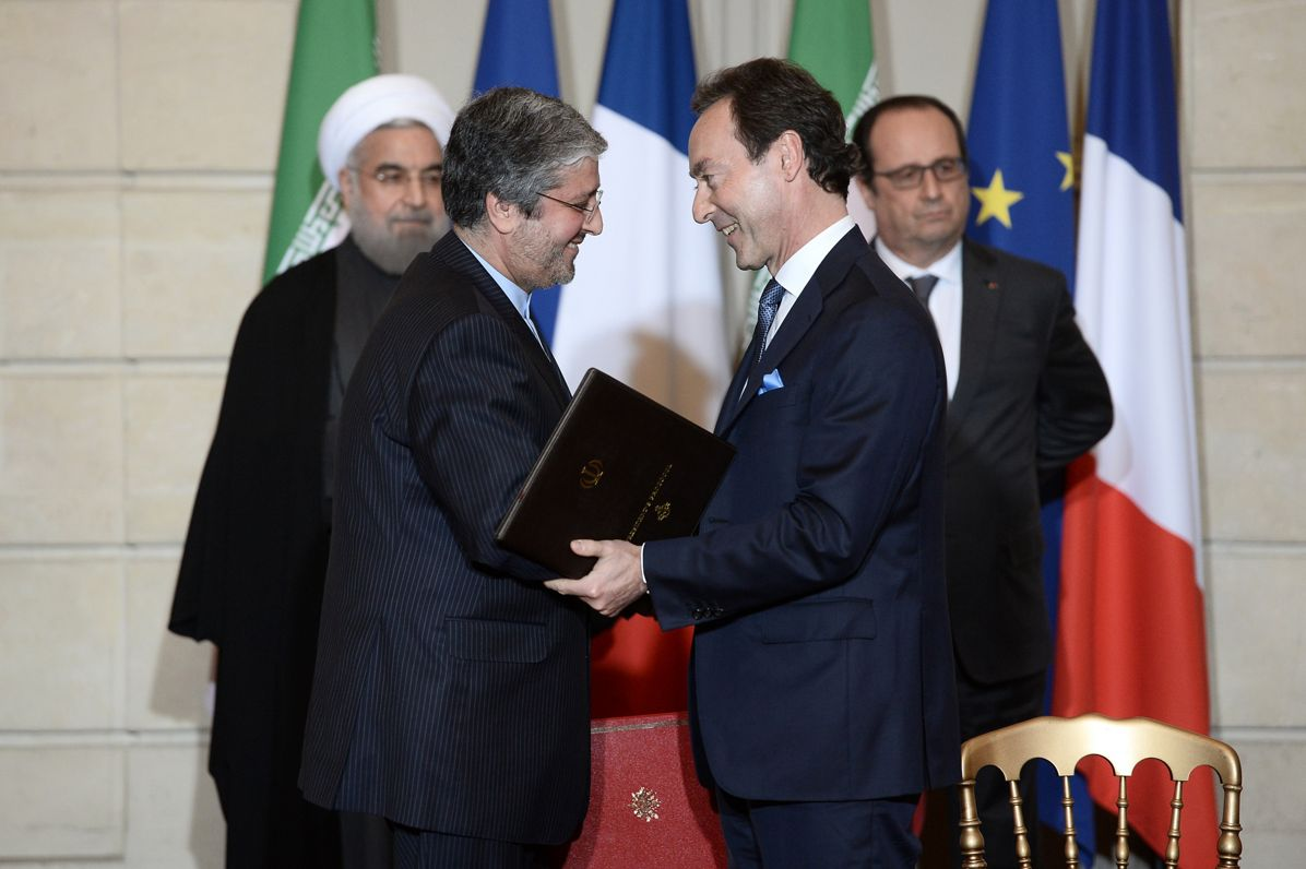 FRANCE-IRAN-DIPLOMACY-ECONOMY, Iran Air Airbus signature Jan 2016
