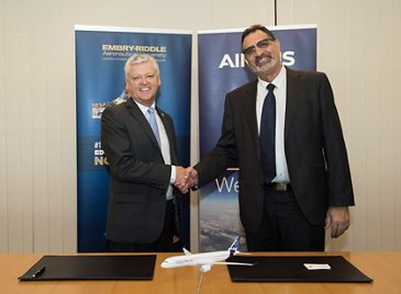 Airbus-Embry Riddle agreement on aviation education collaboration