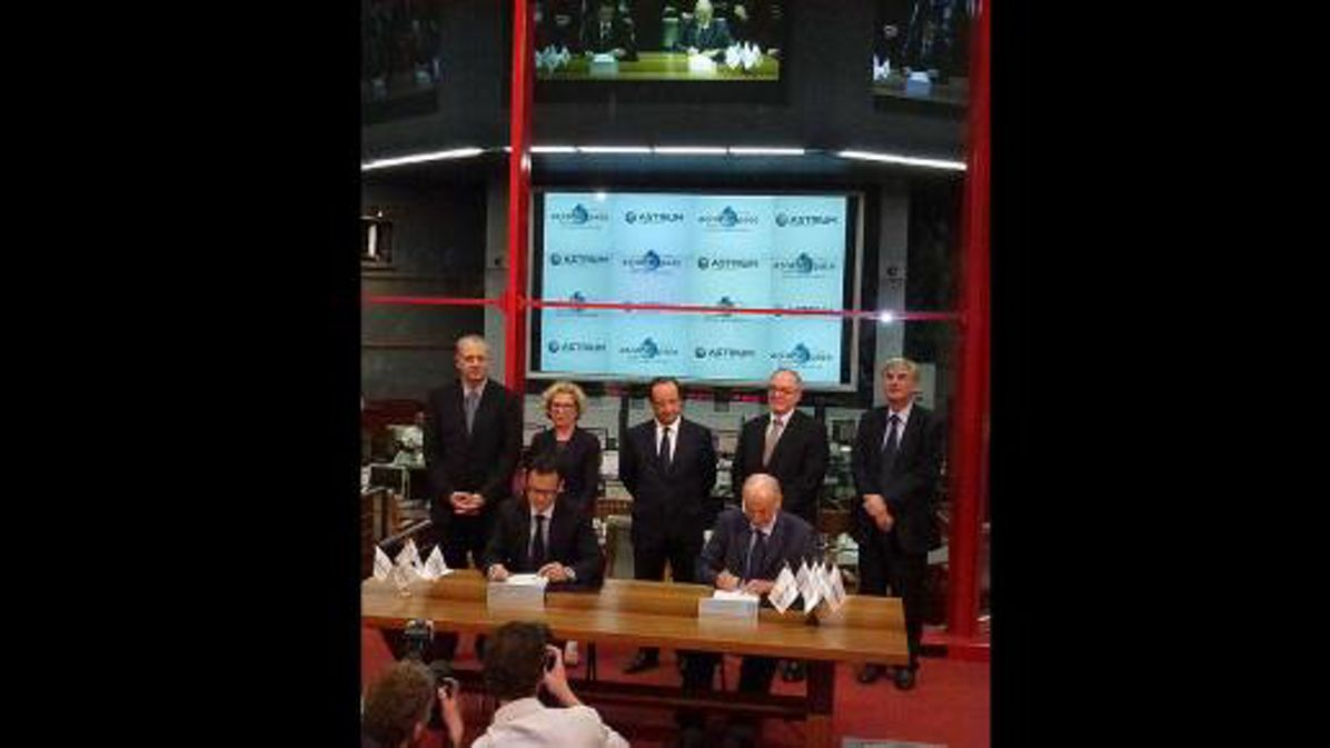 Contract signature to build 18 new Ariane 5 ECA launchers for Arianespace