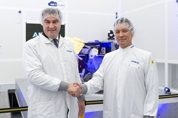 Bavarian Minister-President Markus Söder visits Airbus DS in Taufkirchen