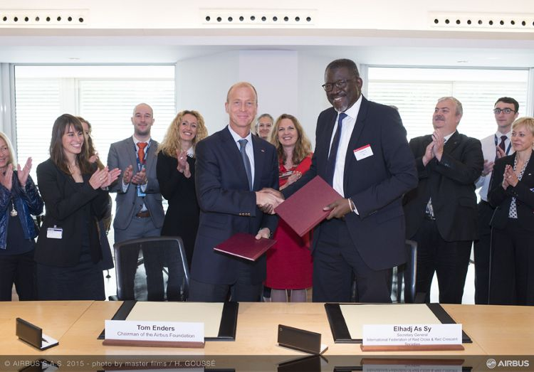 MoU between Airbus Foundation and the IFRC