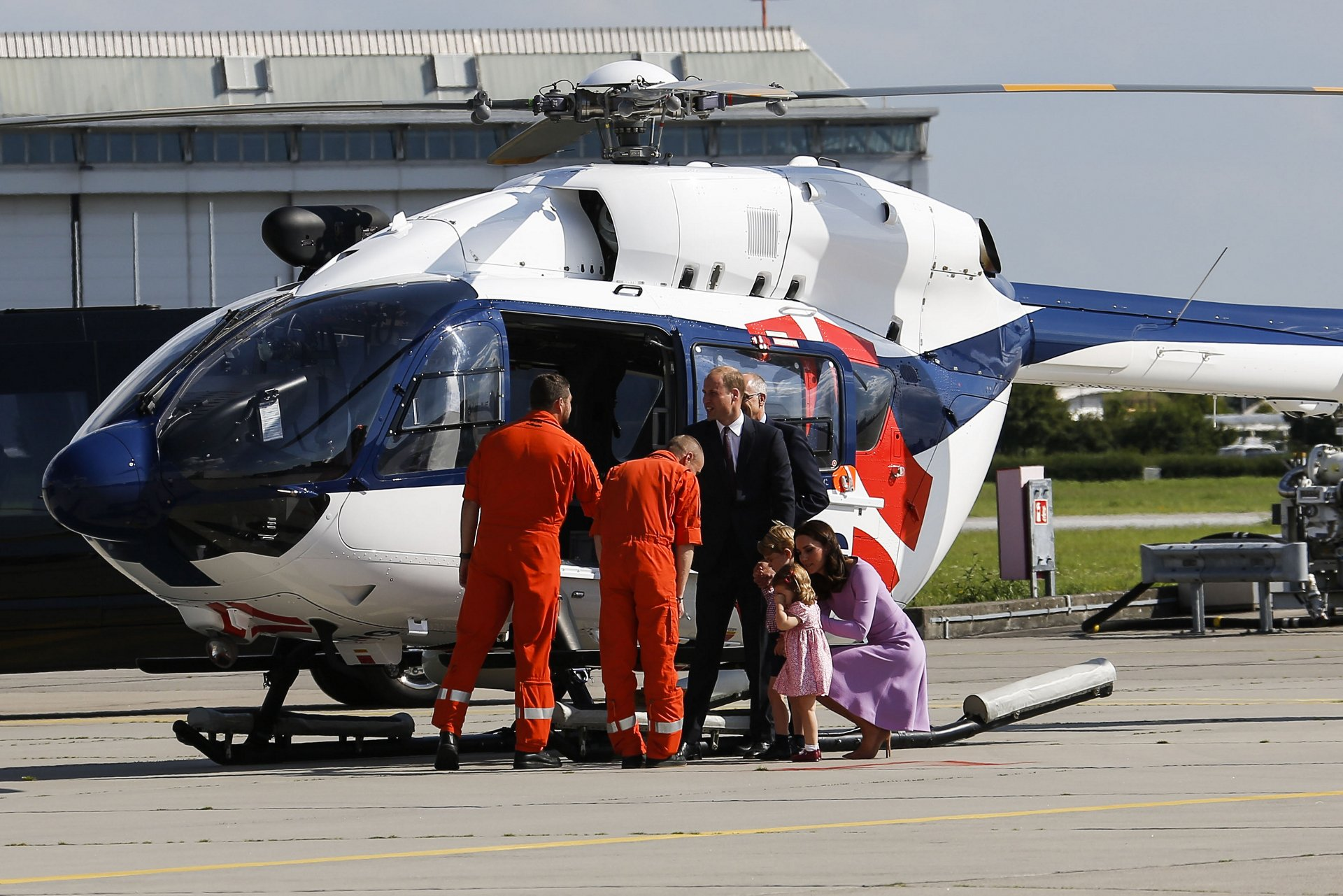 Kate and William Visit Airbus Helicopters Hamburg