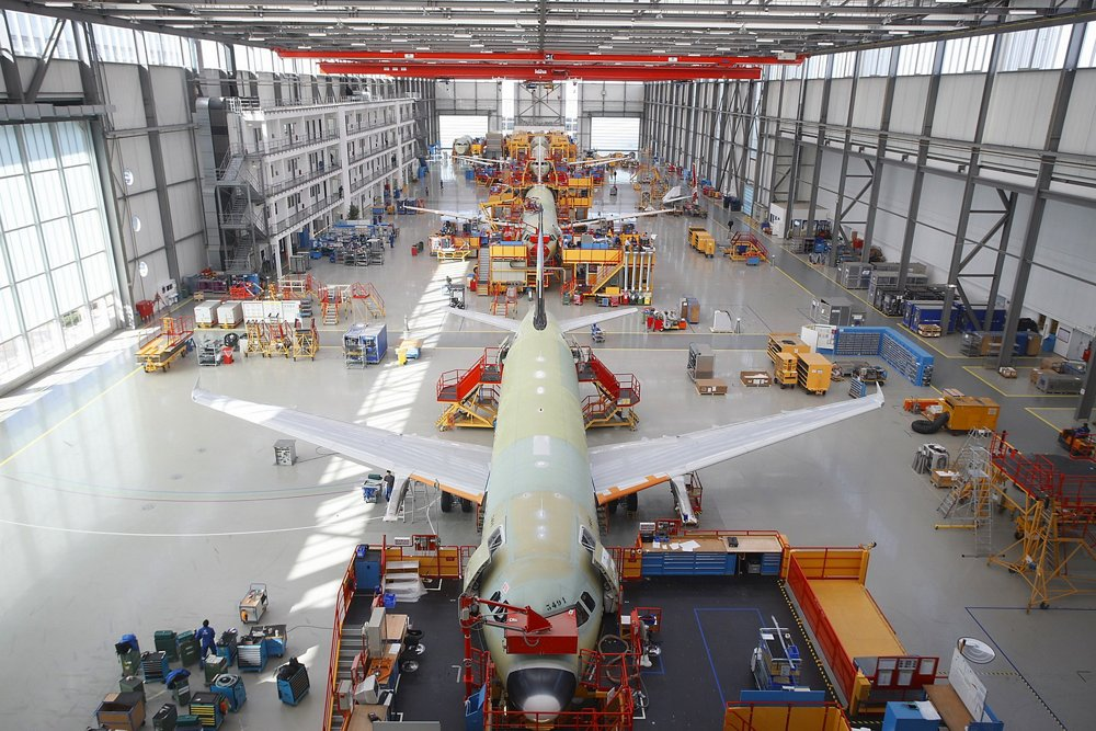 Multiple A320 Family aircraft versions are produced on one of Airbus' final assembly lines