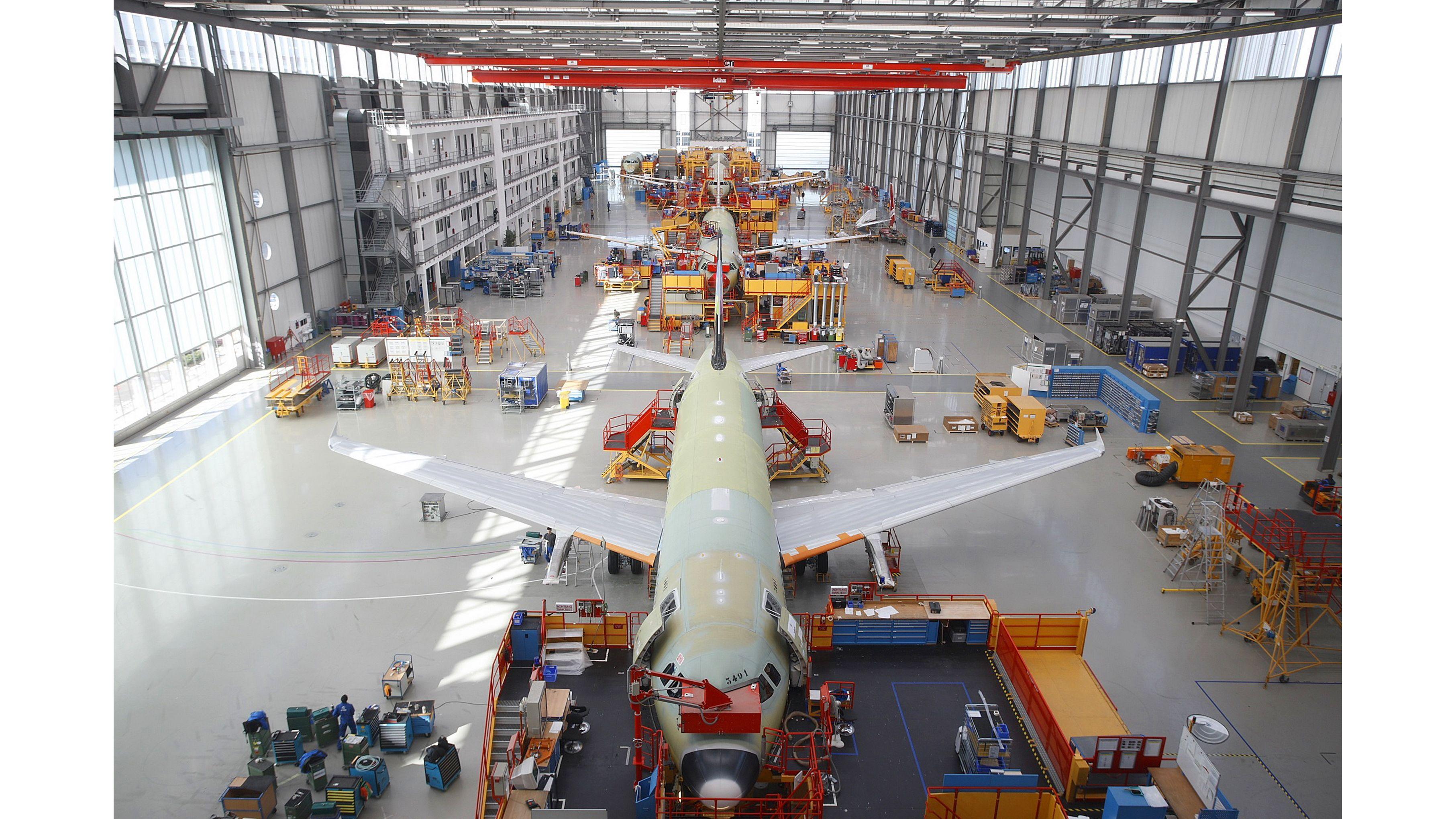 Resultado de imagen para Airbus assembly line