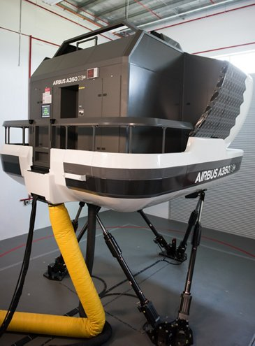 AATC A350 XWB full flight simulator