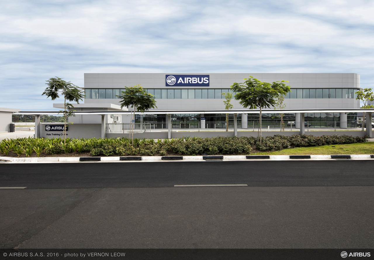 The 9,250-square metre Airbus Asia Training Centre (AATC), which officially opened in Singapore on 18 April 2016, offers type rating and recurrent training courses for all in-production Airbus types