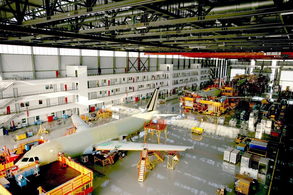 A320 Final Assembly Line in Tianjin  China