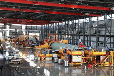 Airbus final assembly line in Tianjin, China