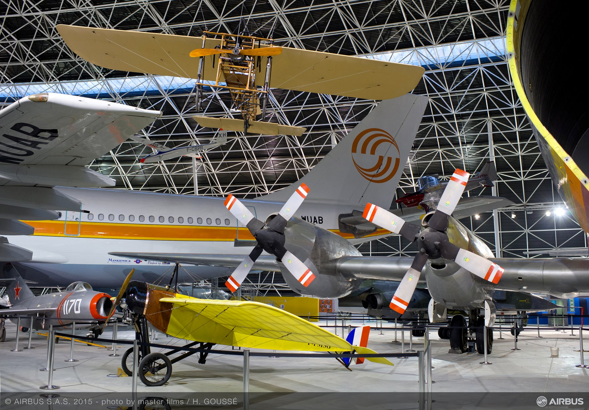 Aeroscopia museum aircraft display 4