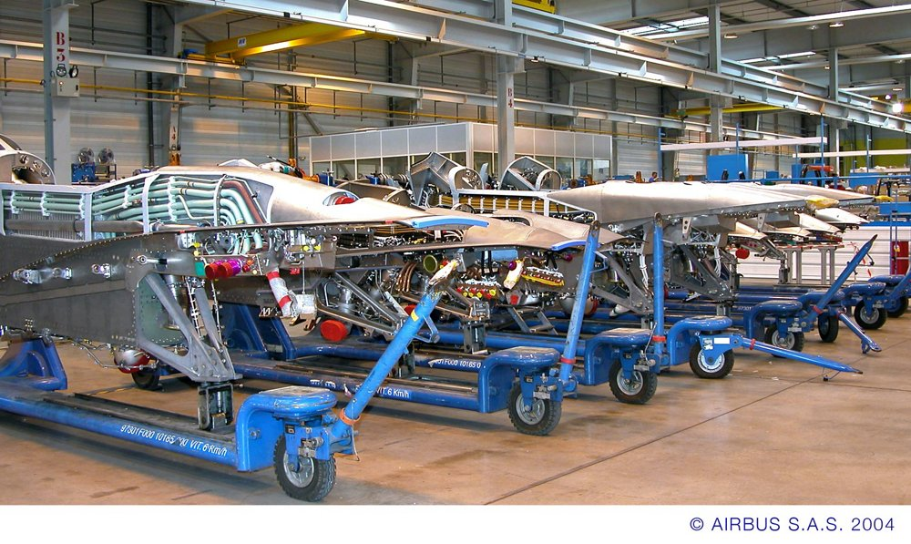 Engine pylons for Airbus aircraft are equipped and tested at the company's Saint-Eloi site in France