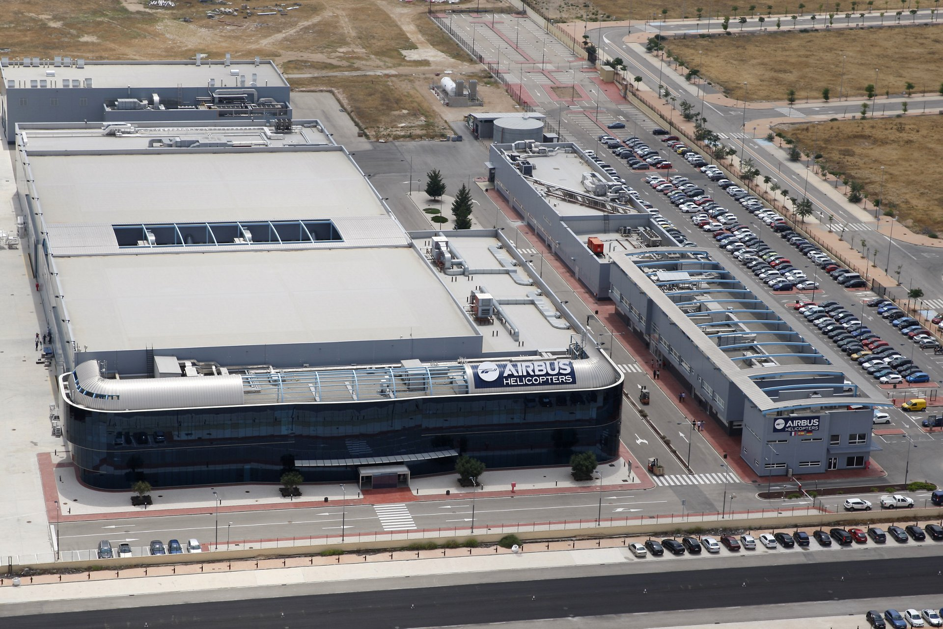 An aerial view of Airbus Helicopters' plant in Albacete, Spain