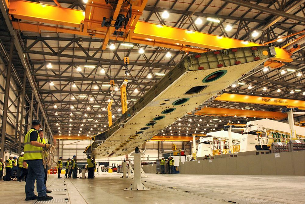 First A400M wing out of jig, UK-Filton-2