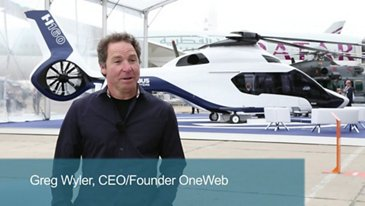 Greg Wyler CEO / Founder OneWeb talks about the production of satellites constellation