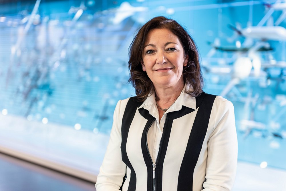 Photo of Chantal Jonscher, Corporate Secretary for Airbus Defence and Space.