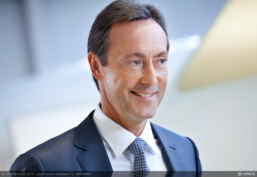 A photo of Fabrice Brégier, who was the Airbus President and Chief Executive Officer.