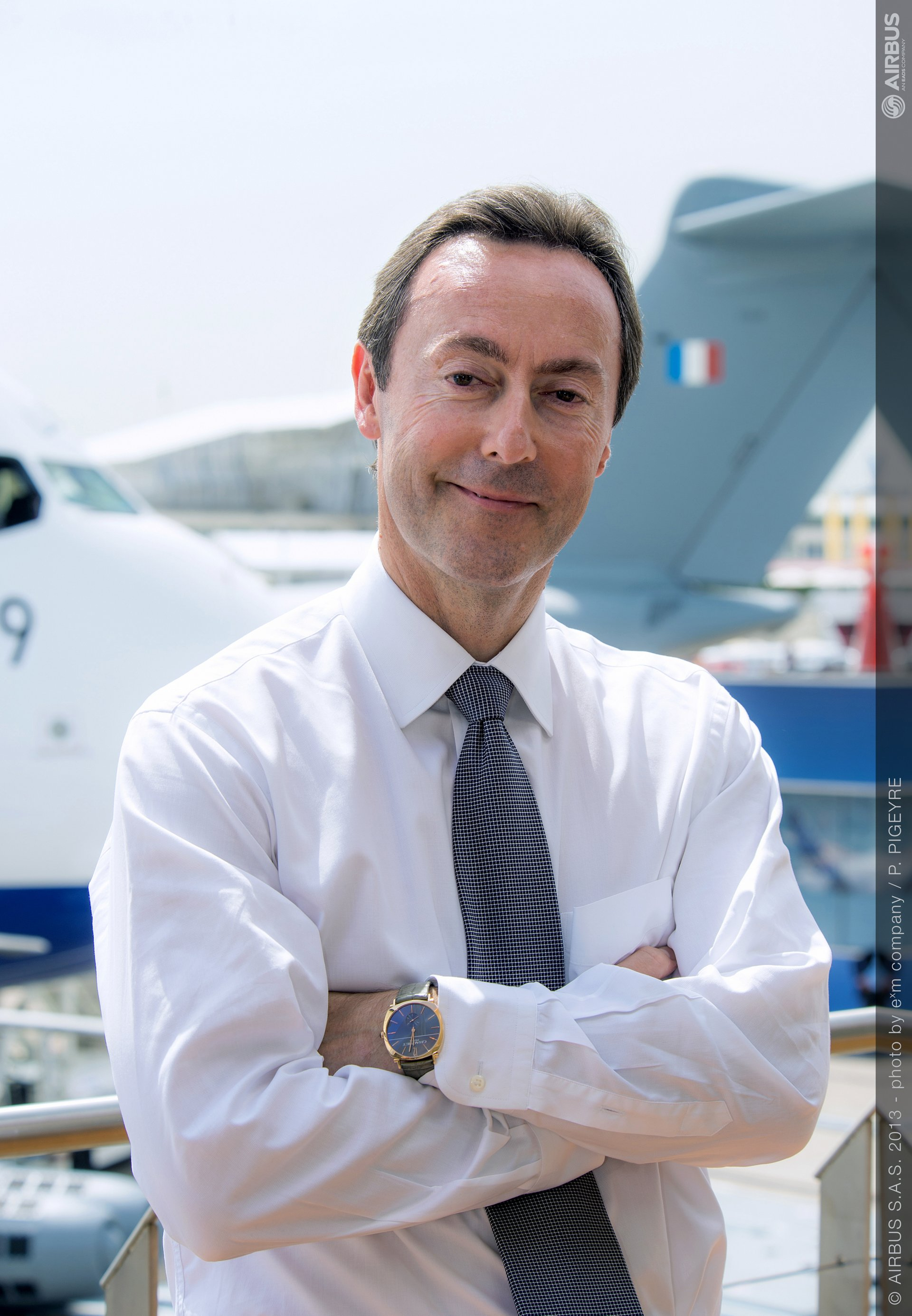 Fabrice Brégier, Airbus President and CEO, at the EADS chalet on day five of the 2013 Paris Air Show