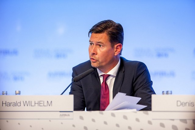 Harald Wilhelm, CFO of Airbus Group and Airbus, answered the questions of the shareholders at he AGM in Amsterdam