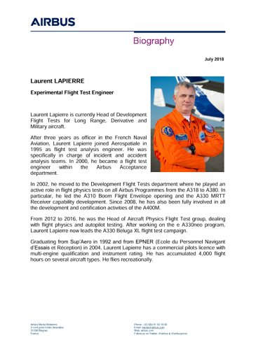 Laurent LAPIERRE Biography