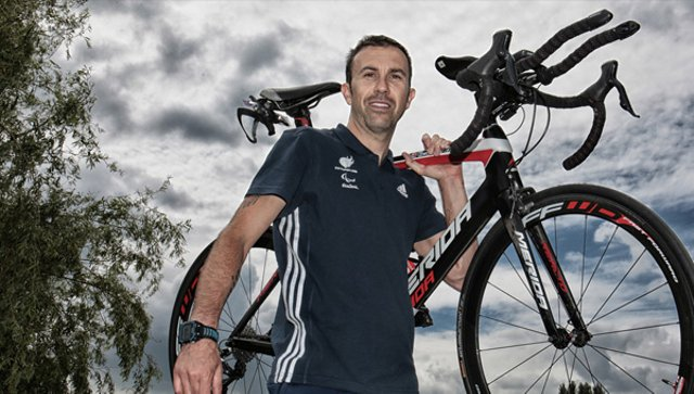 Para-triathlete Andy Lewis