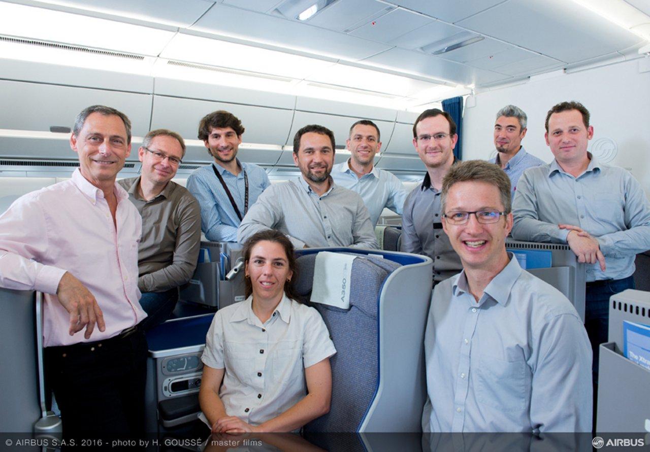 Airbus' cabin interior arrangement team 1