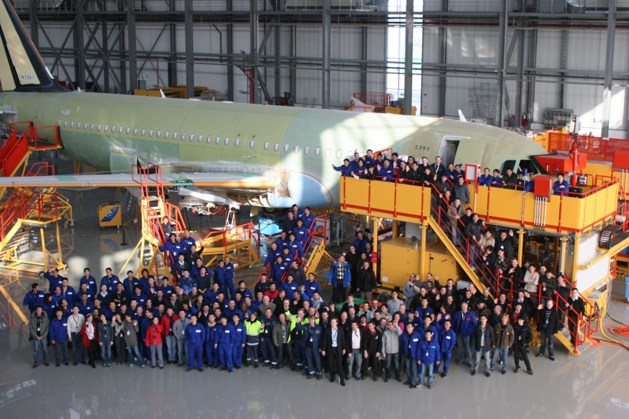The Airbus Final Assembly Line China (FALC) is an Airbus joint venture with a Chinese consortium composed of the Tianjin Free Trade Zone (TJFTZ) and China Aviation Industry Corporation (AVIC)