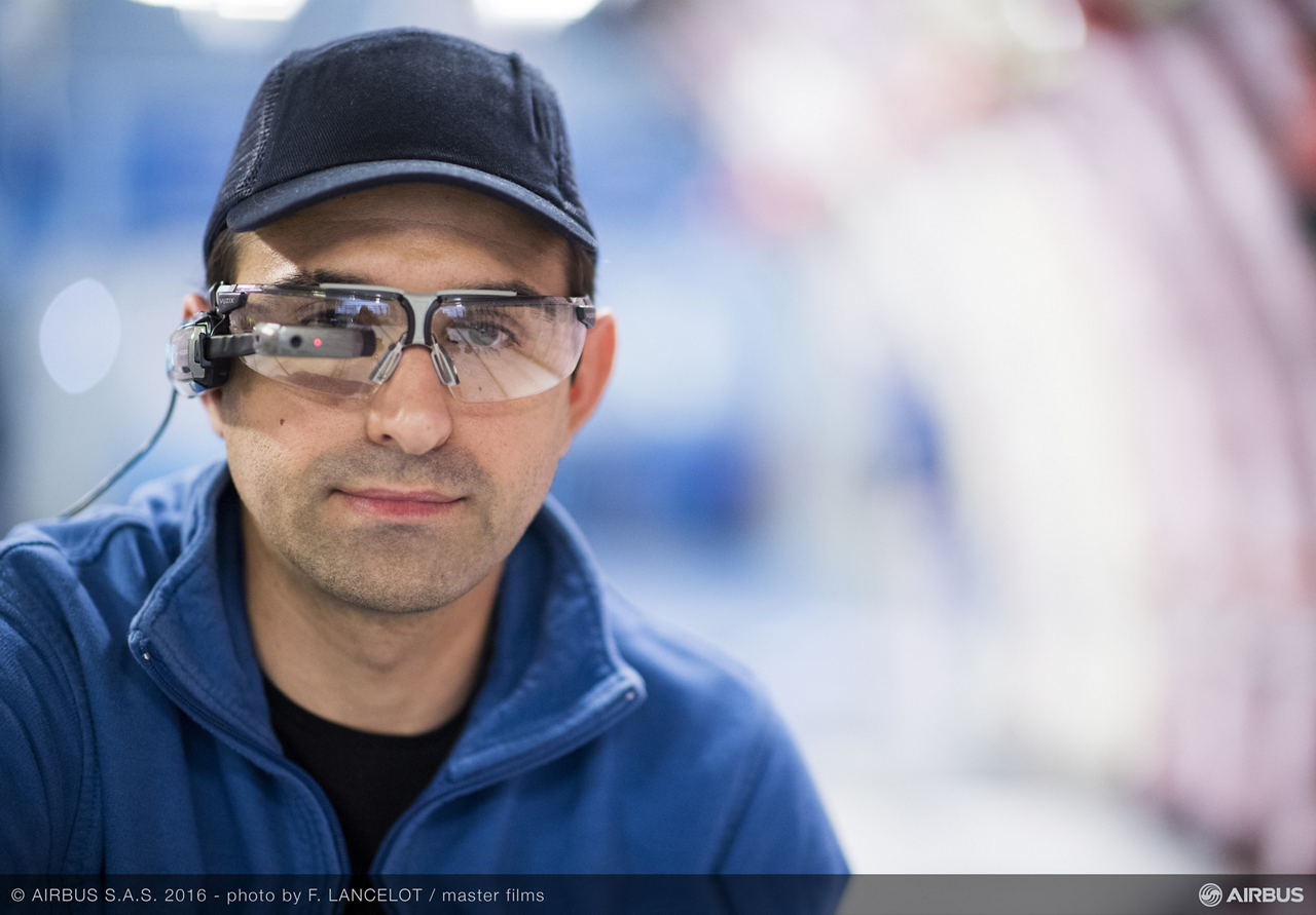 "Airbus' use of ""smart glasses"" – an innovative application of 3D technology developed in a teaming between the company and Accenture – is being extended to flight test equipment installation on A330neo jetliners"