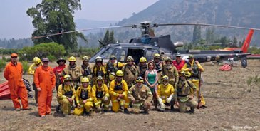 Wildfires in Chile: two pilots report on the blaze