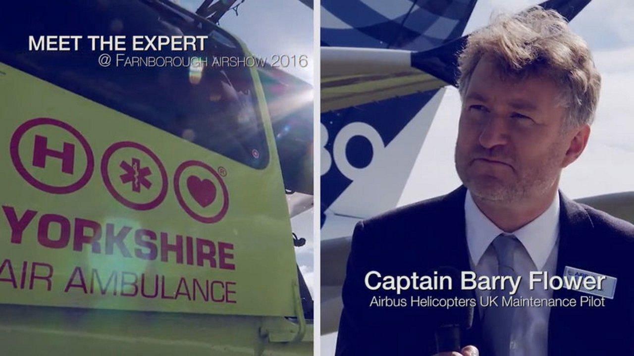 Meet the Expert: Captain Barry Flower, maintenance pilot, at Farnborough