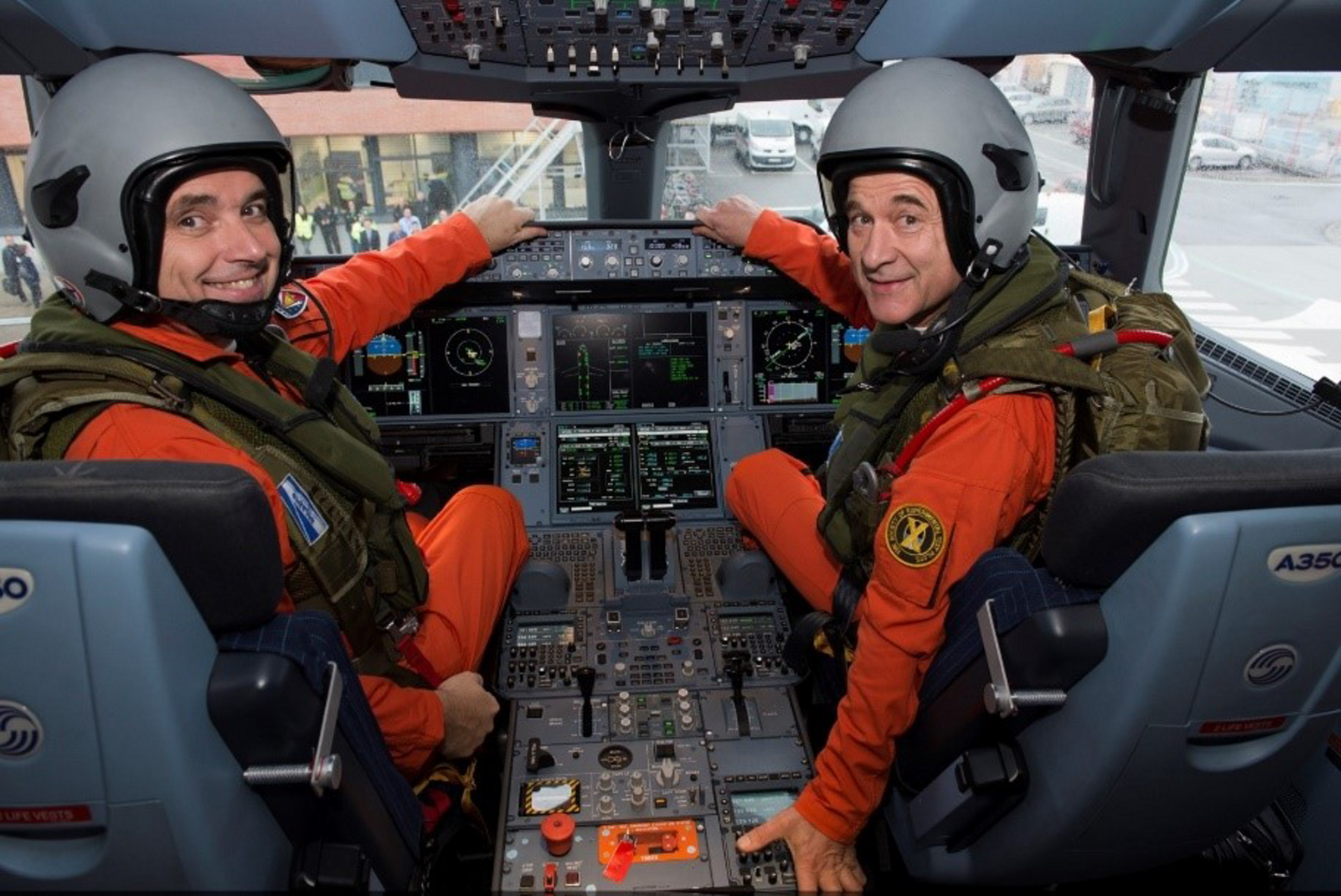 Experimental test pilots like Frank Chapman, at right, are involved from the beginning of a new Airbus development programme