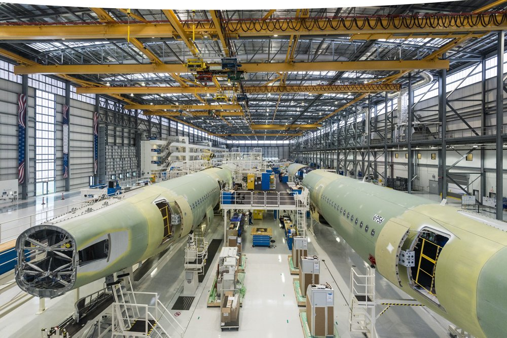 A220 Family aircraft destined for U.S.-based customers are produced at the Mobile final assembly line in Alabama.