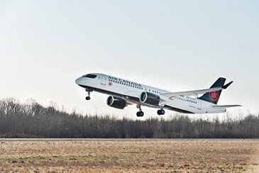 Air Canada A220-300 takes off
