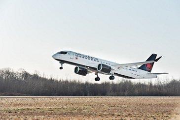 Air Canada A220-300 takes off