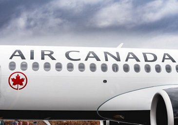 A220 Air Canada fuselage close-up