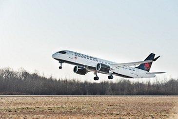 A220 Air Canada takeoff