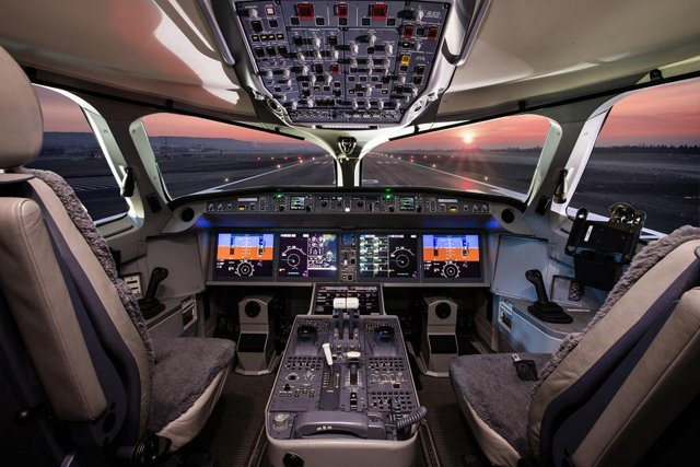 The cockpit configuration for Airbus' A220 jetliners enable pilots to fly its two versions – the A220-100 and A220-300 – with the same type rating