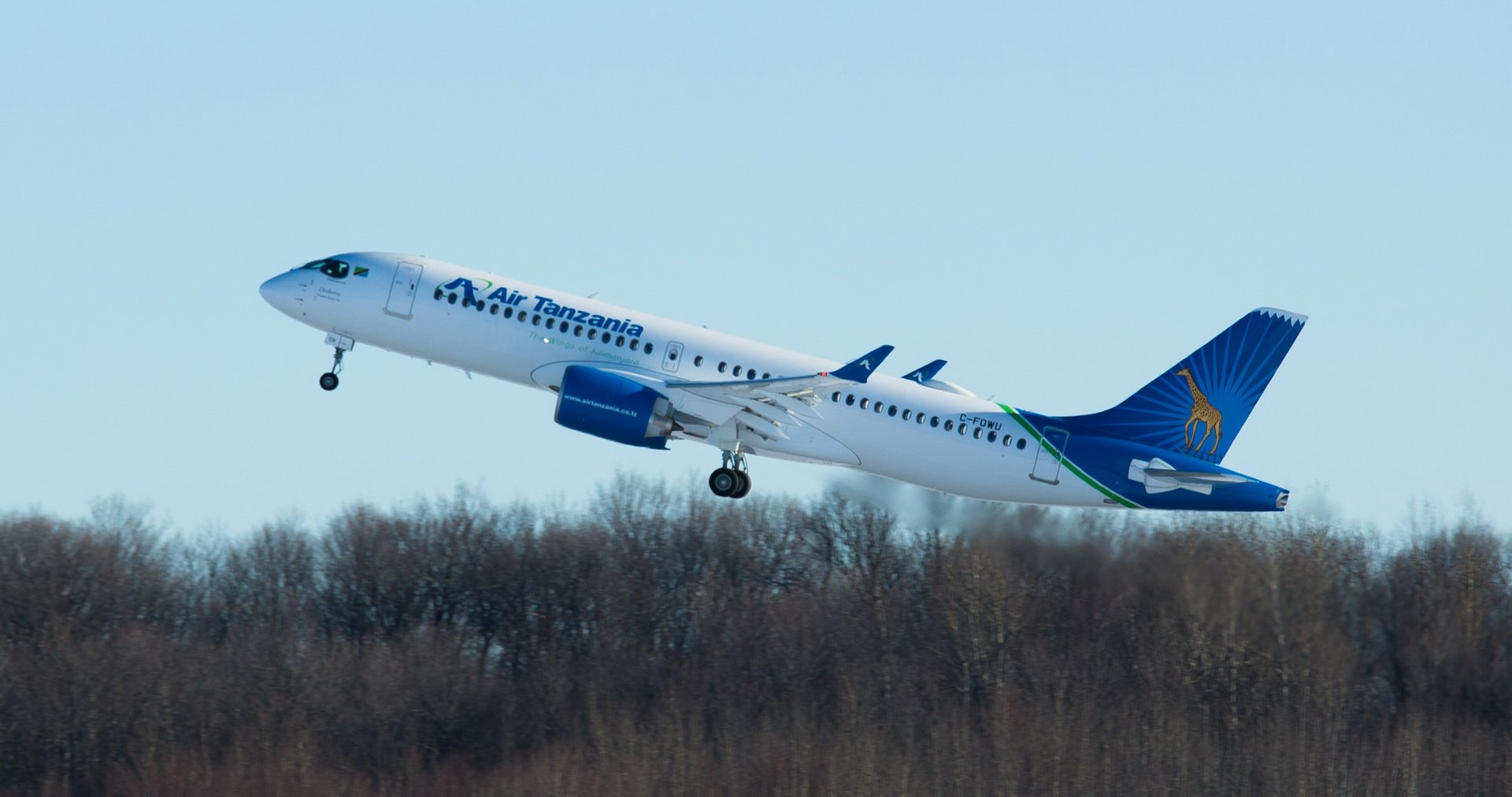 Air Tanzania's first A220