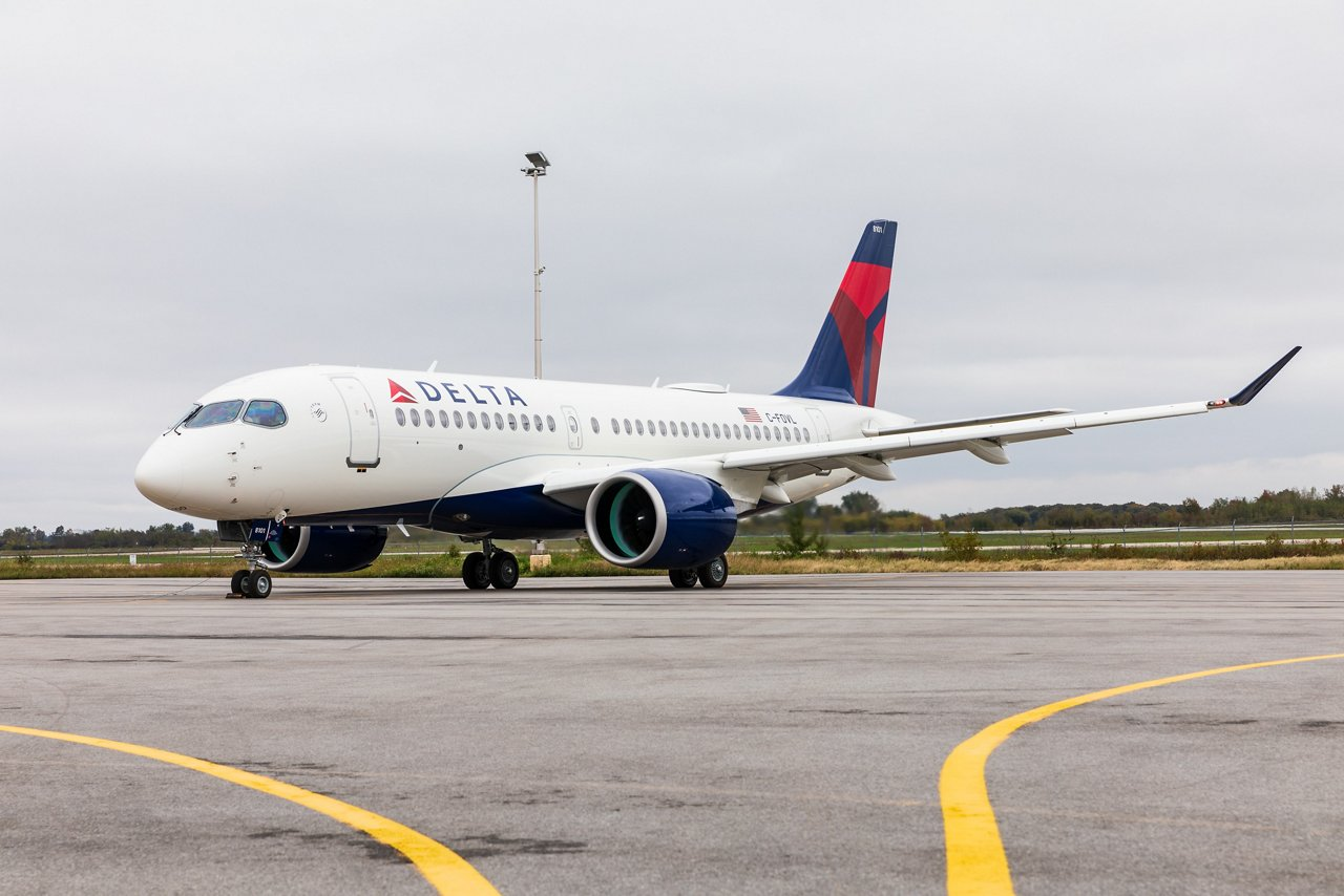 A220-100 Delta Air Lines, before the First flight.