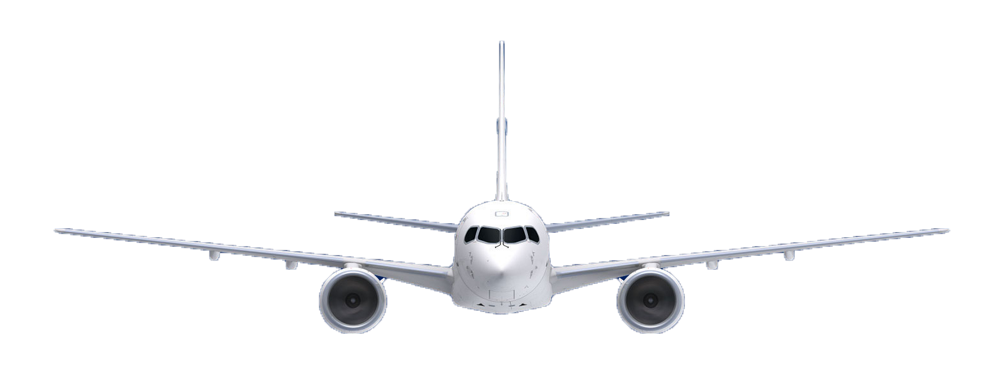 A220-100 Front view