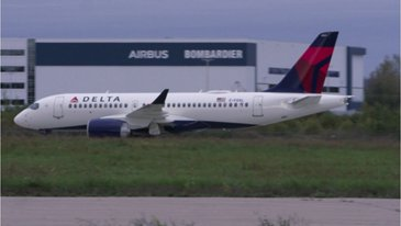 Delta Air Lines A220 takes to the skies for its first flight