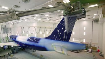 A220-100 Delta Air Lines Paint Shop