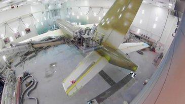 A220-300 Air Canada paintshop rollout