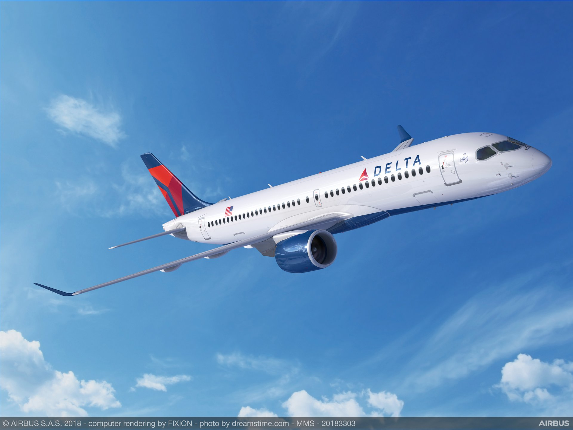 U.S.-based Delta Air Lines has booked a total of 90 Airbus A220 Family jetliners, including 50 of the longer-fuselage A220-300 variant