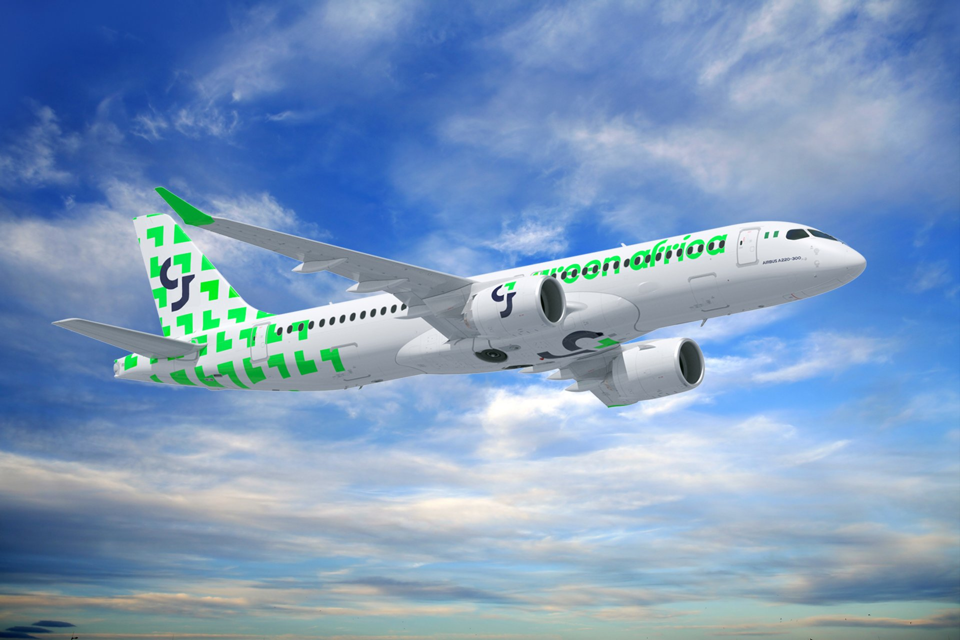 Green Africa Airways has signed a Memorandum of Understanding (MoU) for 50 A220-300 aircraft.