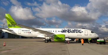 A220-300 AirBaltic demo tour