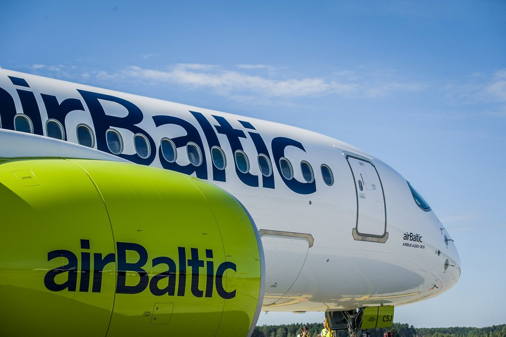 airBaltic A220-300 for world demonstration tour