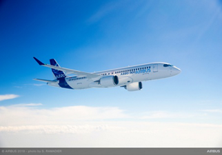 The A220 Family is the newest addition to Airbus single-aisle product line; the first aircraft to be painted in the new livery is an A220-300 variant